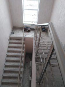 Ограждения лестничных маршей для «Столовой №219» Узловского р-на Тульской области