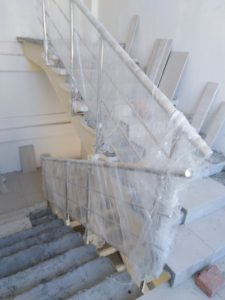 Ограждения лестничных маршей и окон (Тула, пр. Ленина, 102, корпус 4)