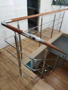 Лестничные ограждения в частном доме (Тула, Лихвинка)