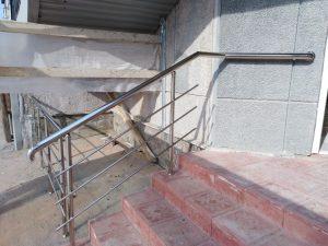 Ограждения входной группы (Тула, ул. Фрунзе, 7а)