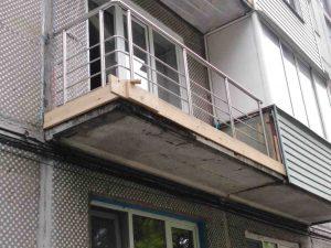 Балконные перила из нержавеющей стали (Тула, 2-ой проезд Металлургов, 2а)