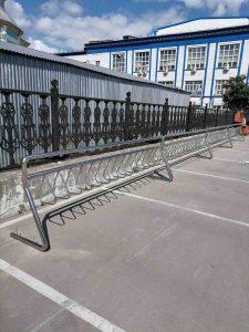 Велопарковка из нержавеющей стали (Тула, ул. Мосина, 2)