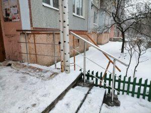 Перила из нержавеющей стали (Тула, ул. Луначарского, 57)