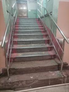 Перила из нержавеющей стали (Тула, ул. Московская, 8)