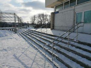 Ограждения для входной группы (Тульская область, пос. Ленинский, ул. Ленина, 1)